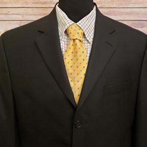 Michael Kors RECENT Black 3 Button Suit Jacket 42R